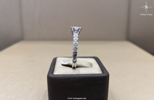 Avior White Gold Ring & Sirius Gems