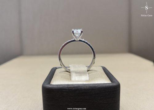 White Gold Elissa Ring & Sirius Gems