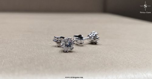 White Gold Lepus Earrings & Sirius Gems