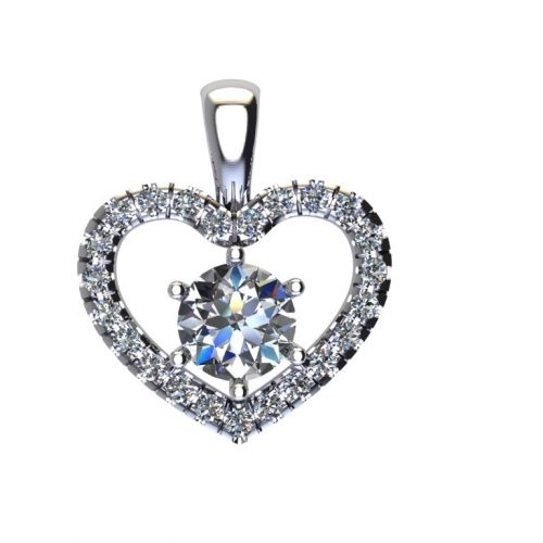 Angels Heart Pendant and Sirius Gems