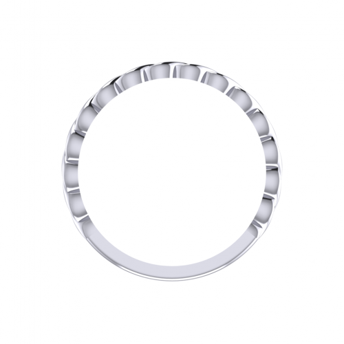 Gemini White Gold Ring 2