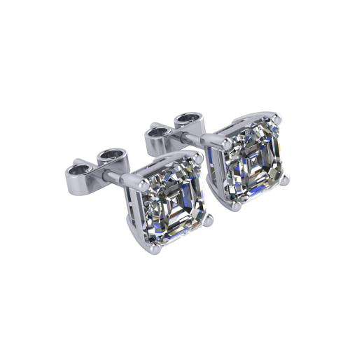 Eridani Earrings Asscher