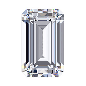 Emerald Cut Sirius Gem