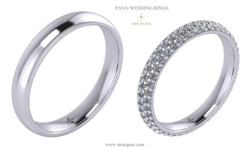 Pavo Wedding Rings
